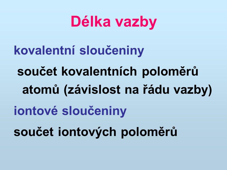Délka vazby kovalentní sloučeniny