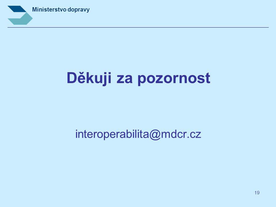 Děkuji za pozornost interoperabilita@mdcr.cz
