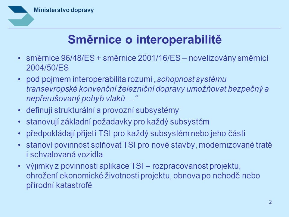 Směrnice o interoperabilitě
