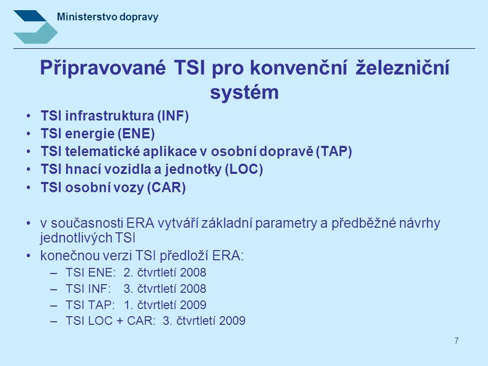 Připravované TSI pro konvenční železniční systém