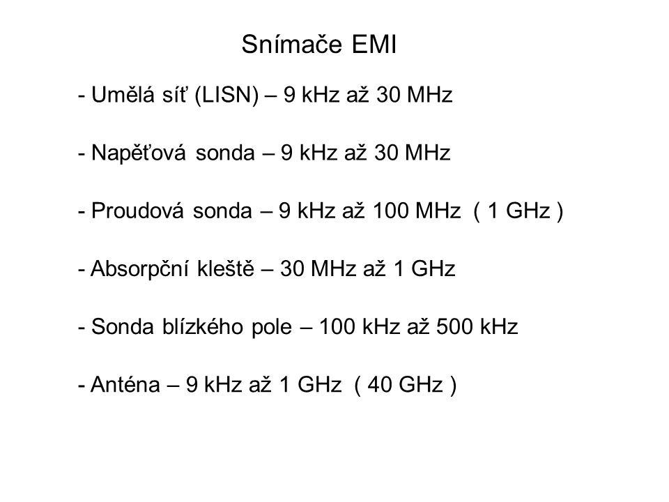 Snímače EMI - Umělá síť (LISN) – 9 kHz až 30 MHz