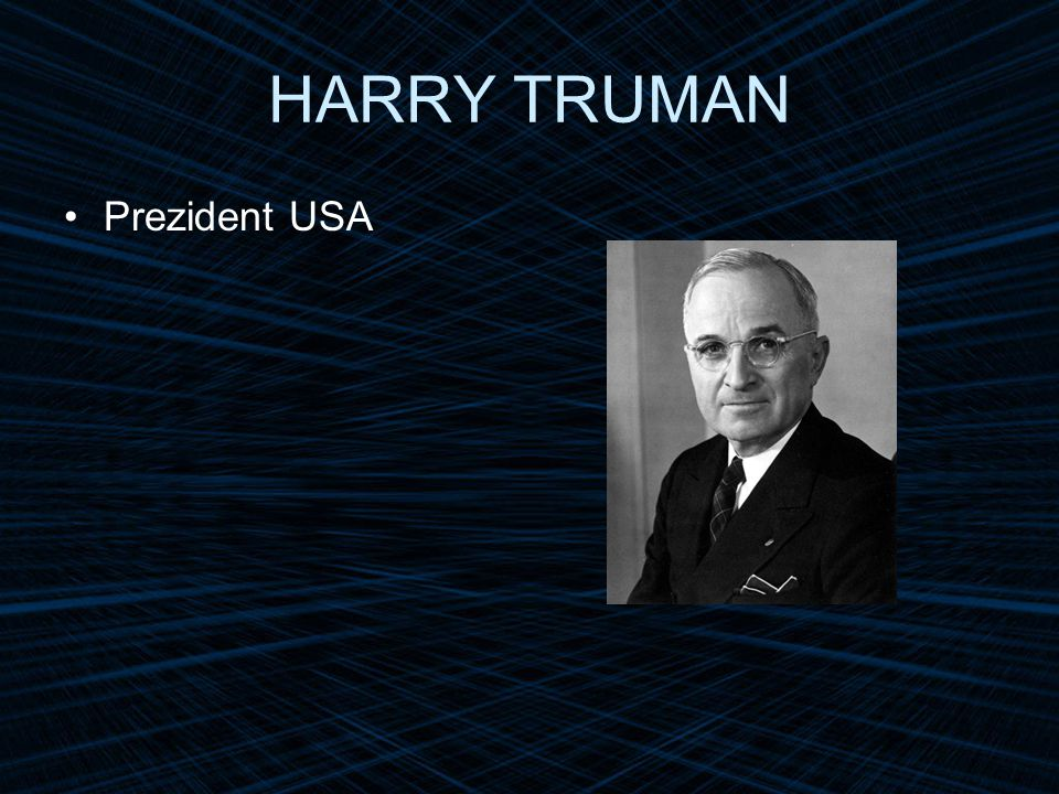 HARRY TRUMAN Prezident USA
