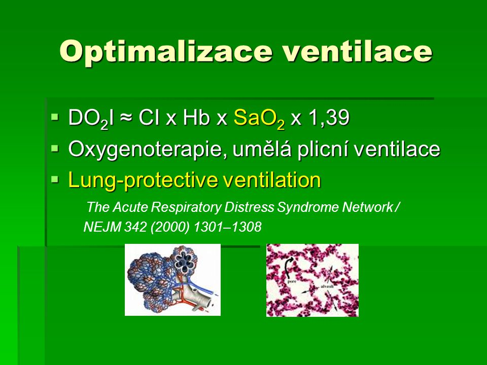 Optimalizace ventilace