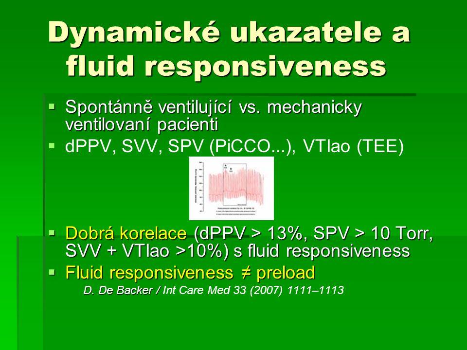 Dynamické ukazatele a fluid responsiveness