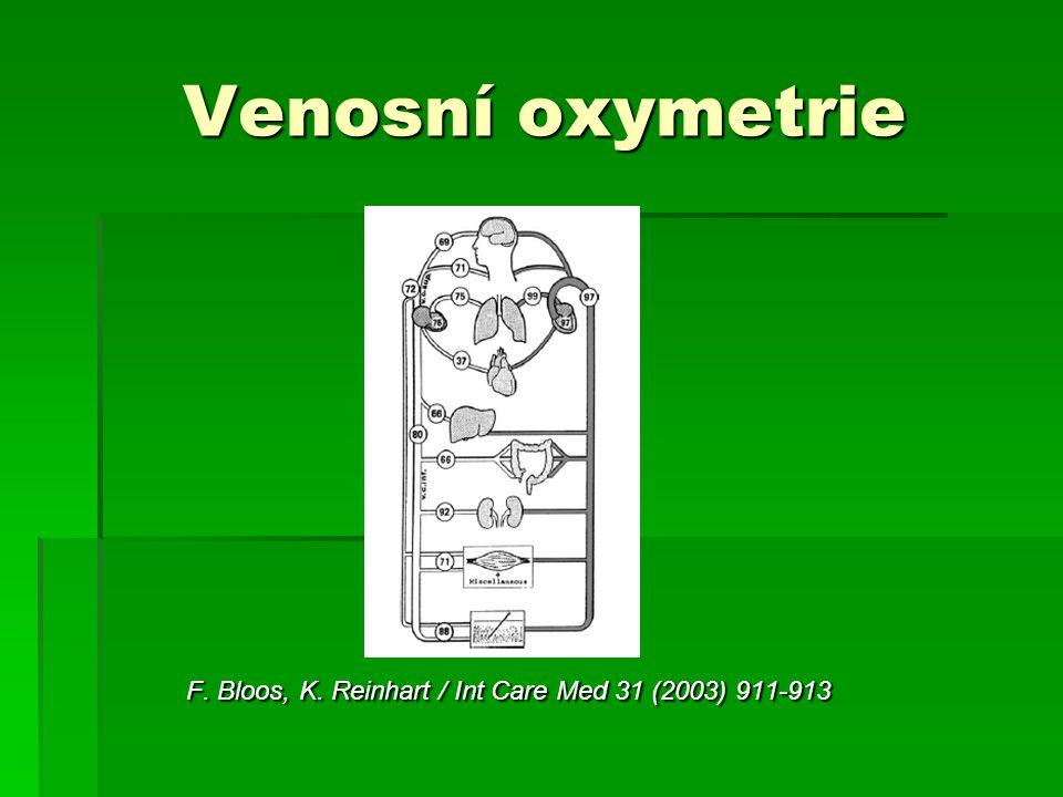 Venosní oxymetrie F. Bloos, K. Reinhart / Int Care Med 31 (2003) 911-913