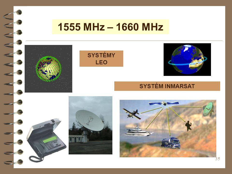 1555 MHz – 1660 MHz SYSTÉMY LEO SYSTÉM INMARSAT