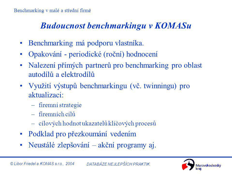 Budoucnost benchmarkingu v KOMASu