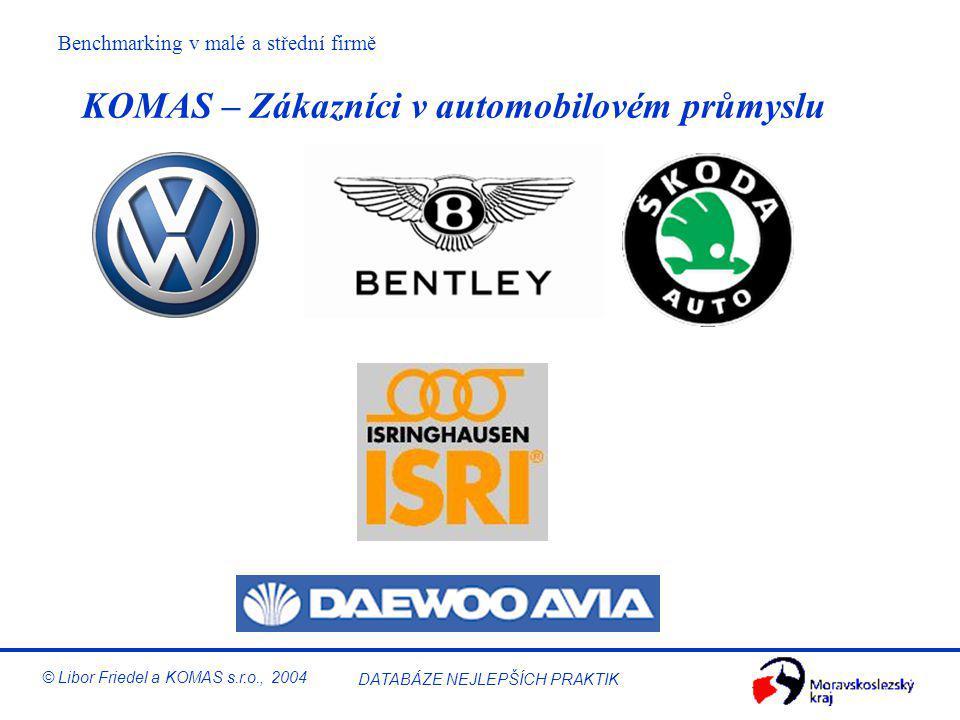 KOMAS – Zákazníci v automobilovém průmyslu