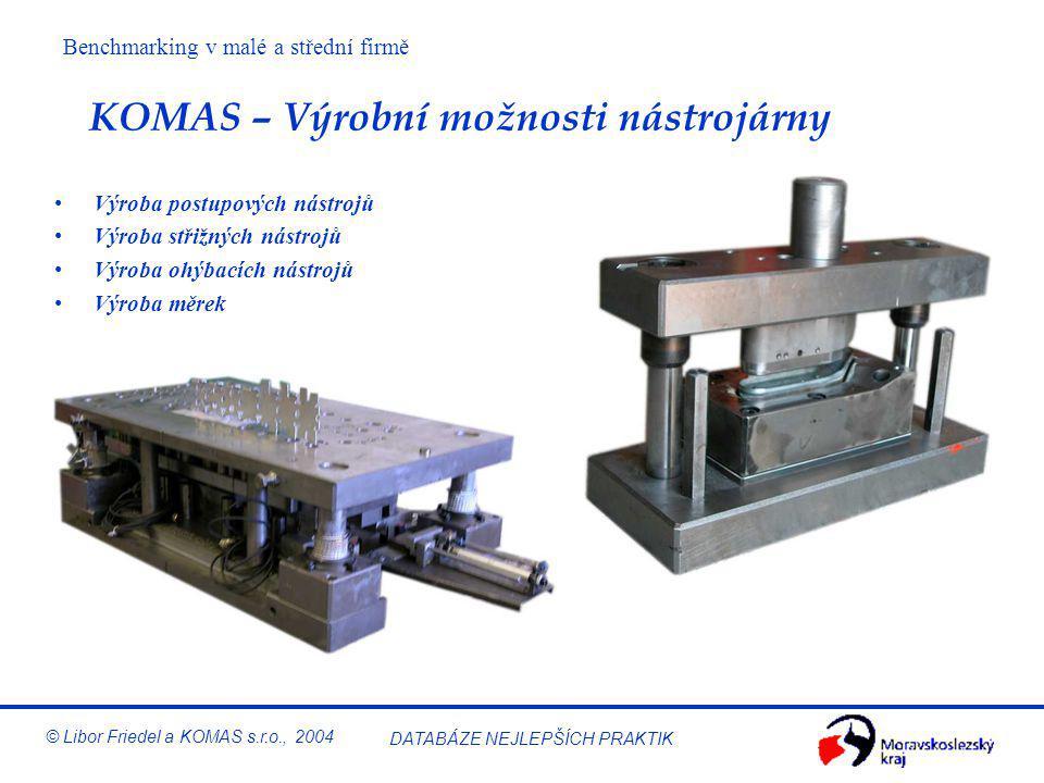 KOMAS – Výrobní možnosti nástrojárny