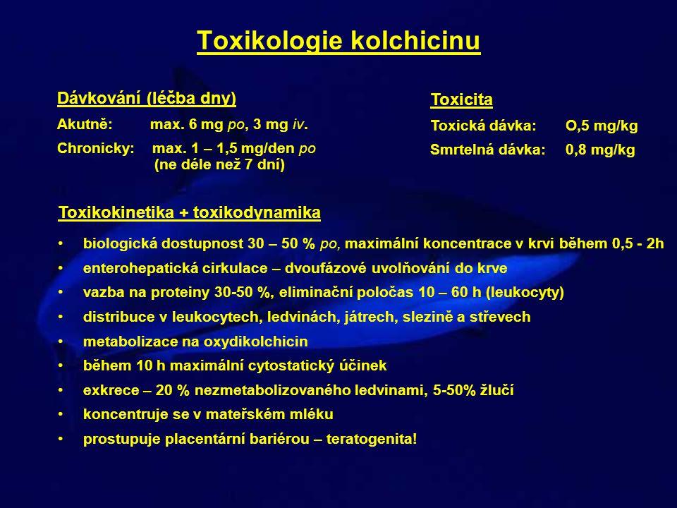 Toxikologie kolchicinu