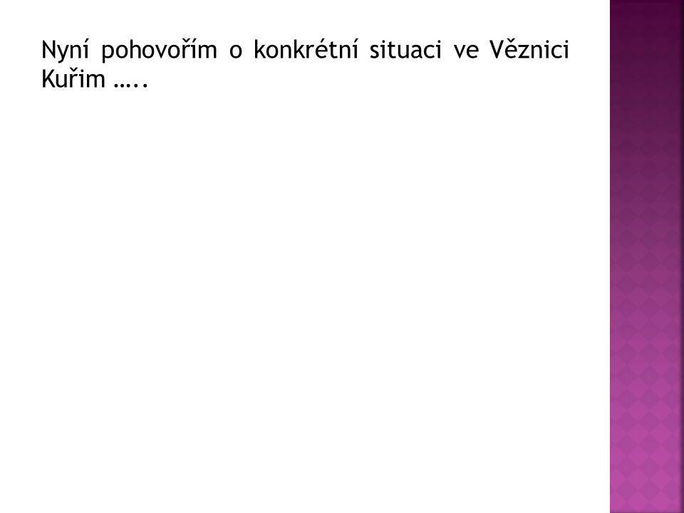 Nyní pohovořím o konkrétní situaci ve Věznici Kuřim …..