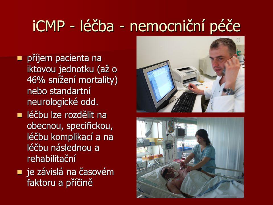 iCMP - léčba - nemocniční péče