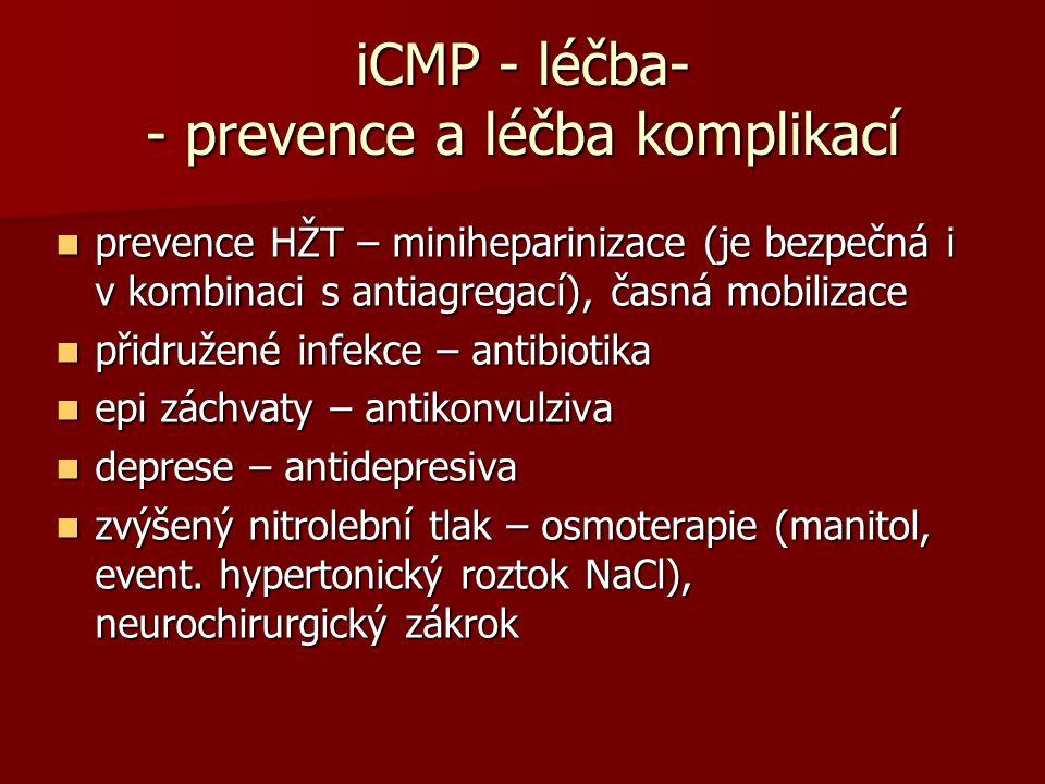 iCMP - léčba- - prevence a léčba komplikací