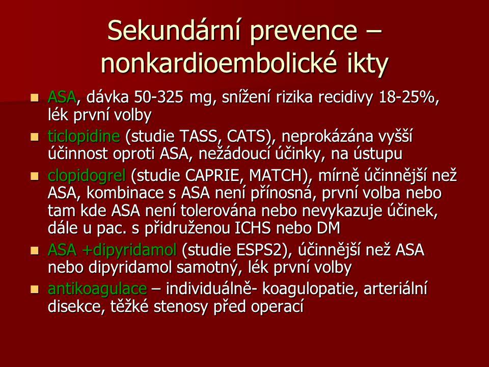 Sekundární prevence – nonkardioembolické ikty