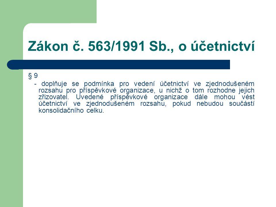 Zákon č. 563/1991 Sb., o účetnictví