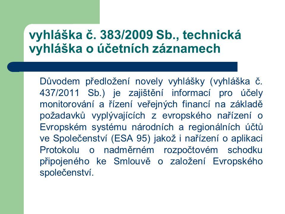 vyhláška č. 383/2009 Sb., technická vyhláška o účetních záznamech