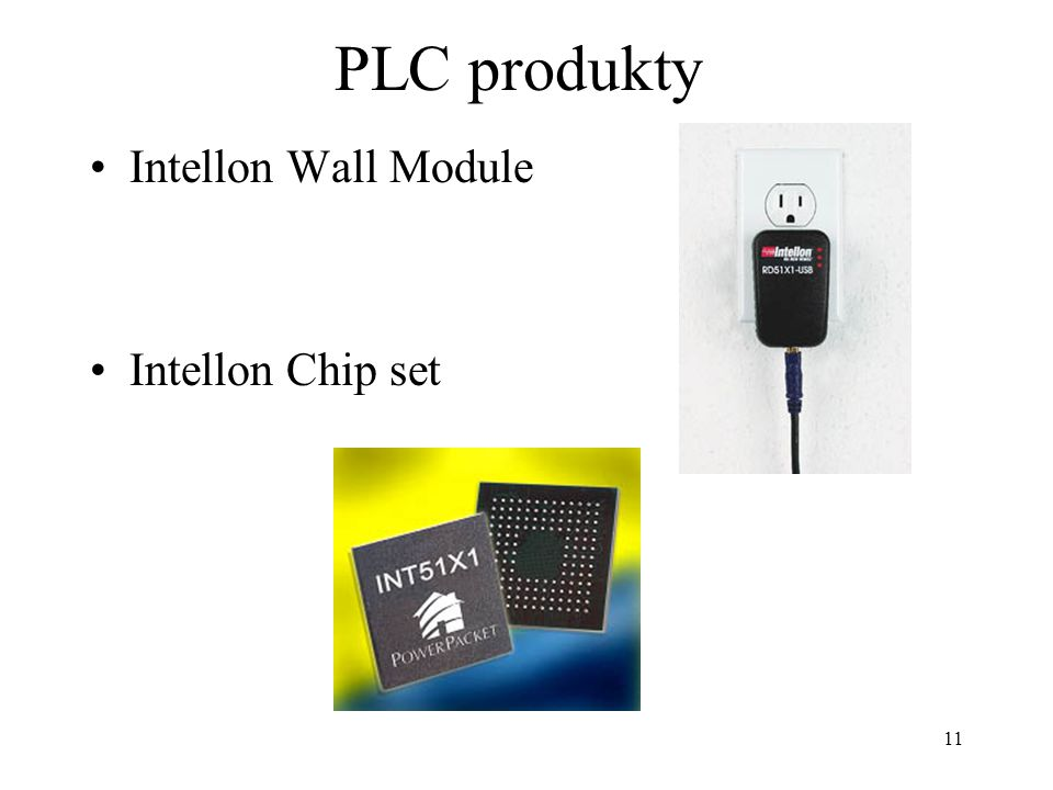 PLC produkty Intellon Wall Module Intellon Chip set