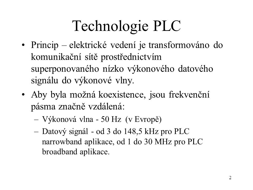 Technologie PLC