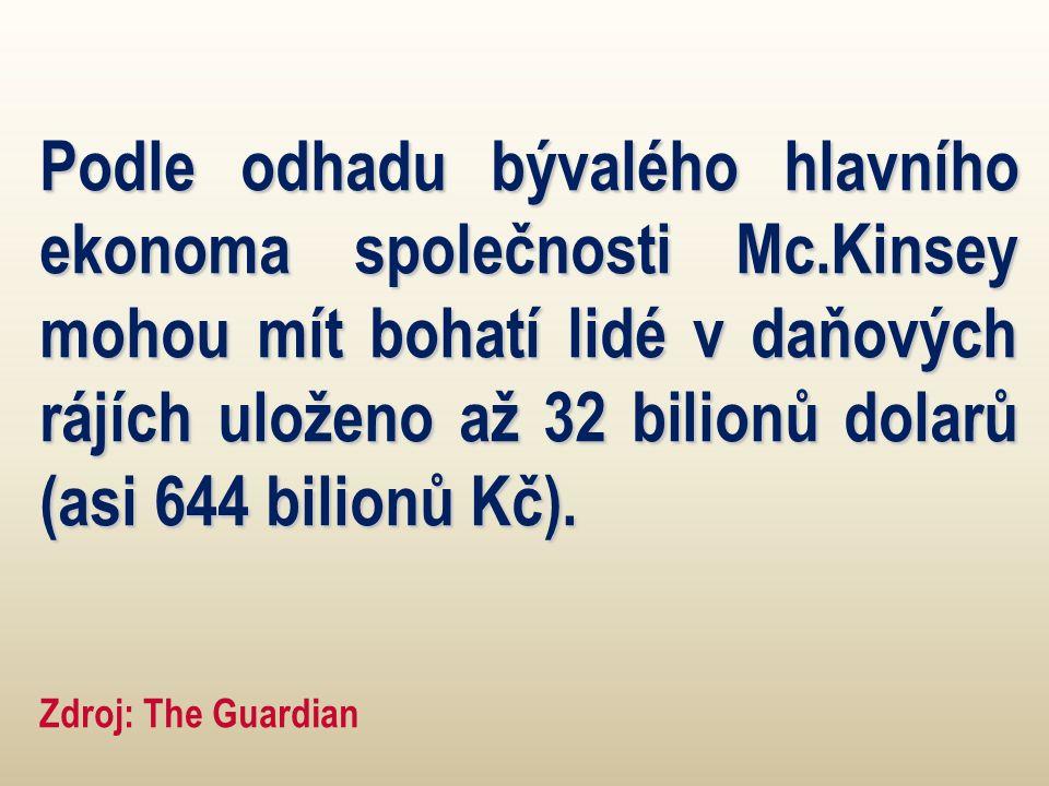 Podle odhadu bývalého hlavního ekonoma společnosti Mc