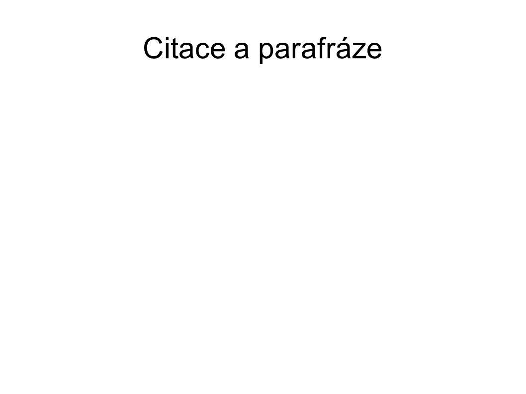 Citace a parafráze