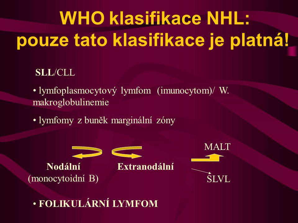 WHO klasifikace NHL: pouze tato klasifikace je platná!