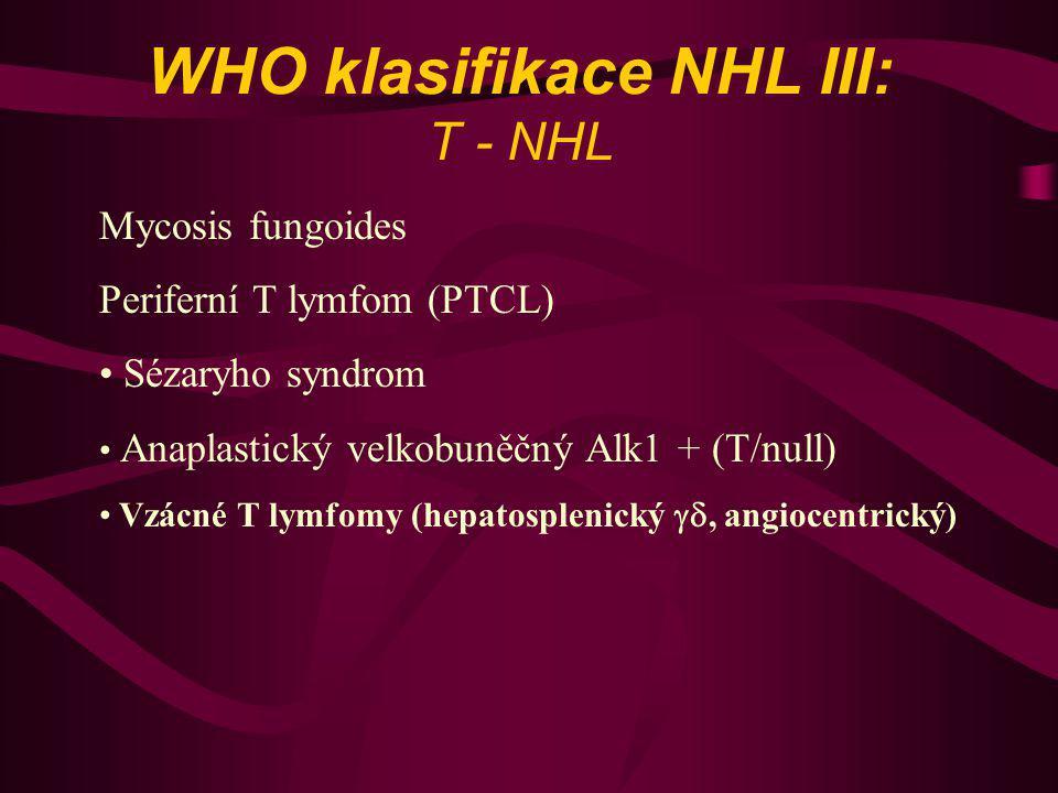 WHO klasifikace NHL III: T - NHL