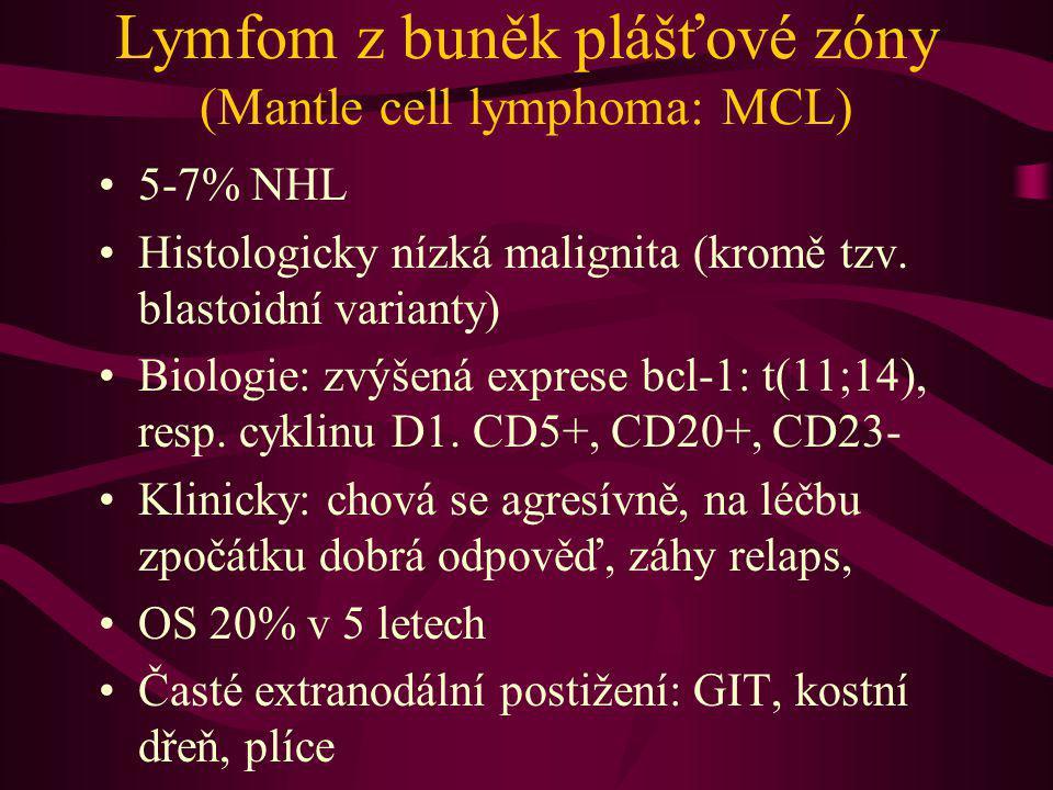 Lymfom z buněk plášťové zóny (Mantle cell lymphoma: MCL)