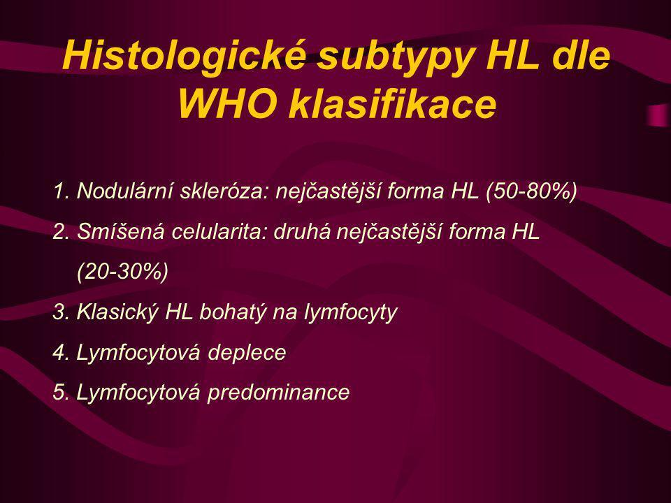 Histologické subtypy HL dle WHO klasifikace