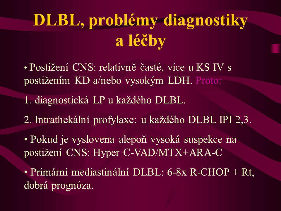 DLBL, problémy diagnostiky a léčby