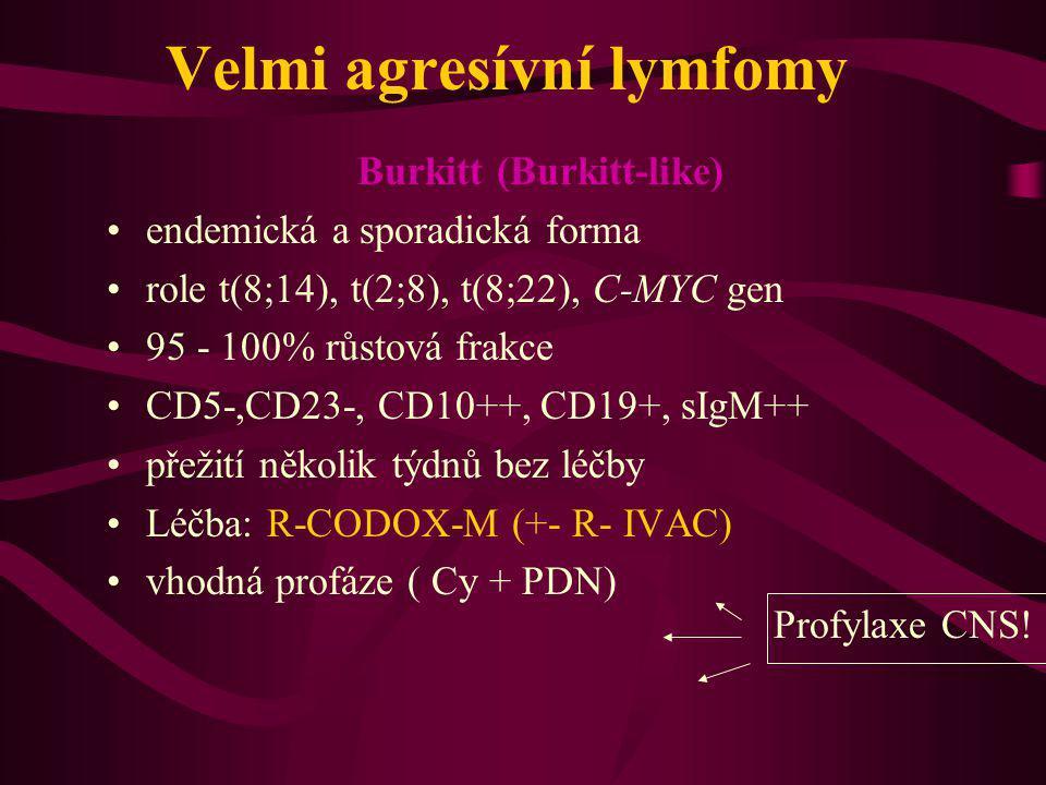 Velmi agresívní lymfomy