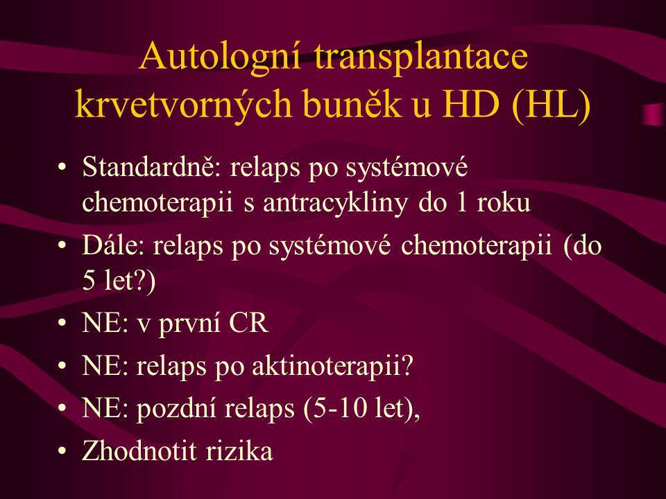 Autologní transplantace krvetvorných buněk u HD (HL)