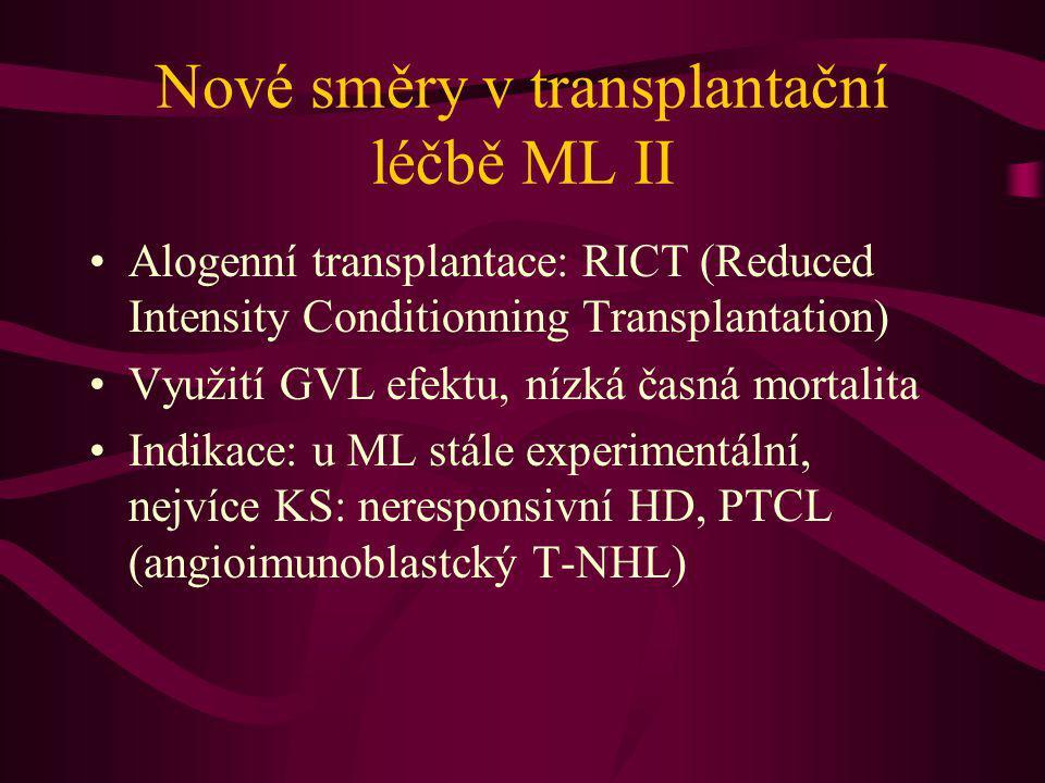 Nové směry v transplantační léčbě ML II