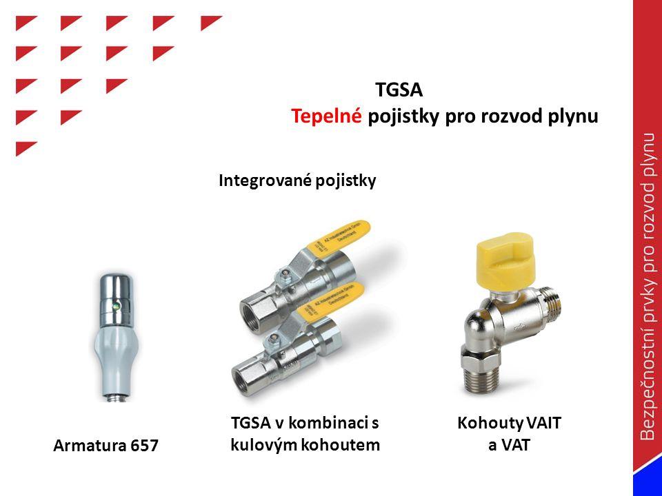TGSA v kombinaci s kulovým kohoutem