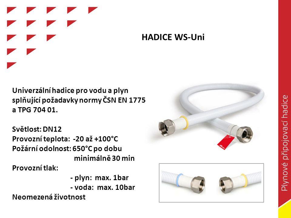 HADICE WS-Uni Univerzální hadice pro vodu a plyn