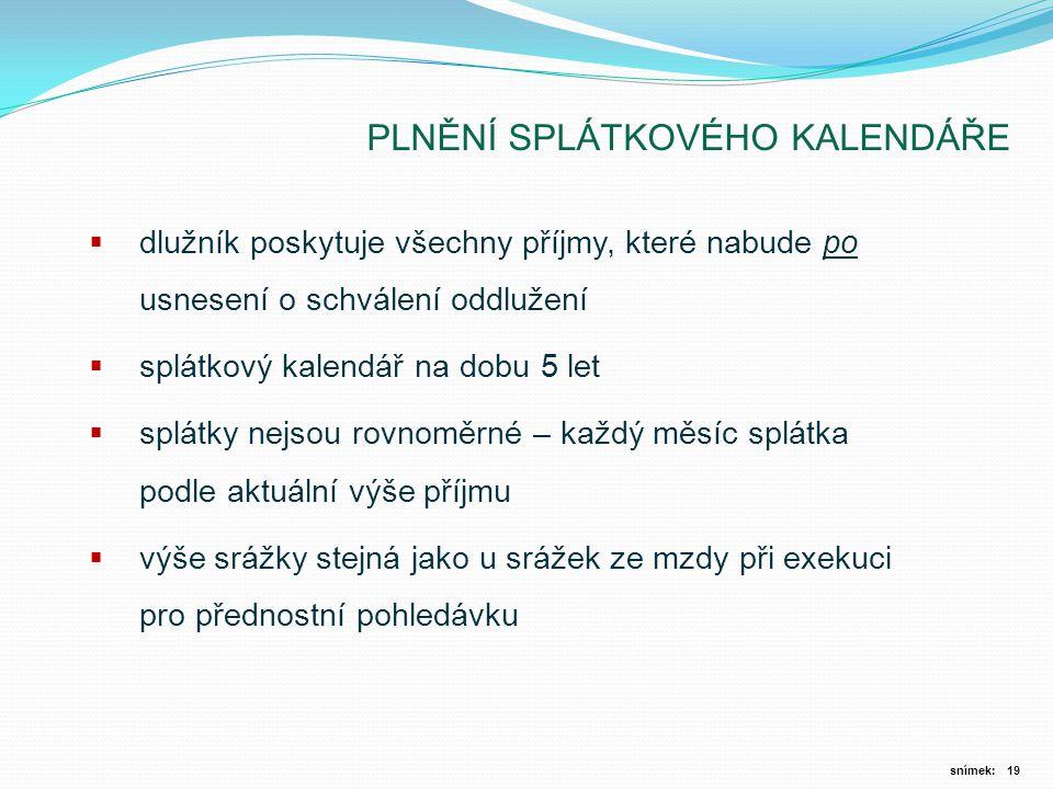 PLNĚNÍ SPLÁTKOVÉHO KALENDÁŘE