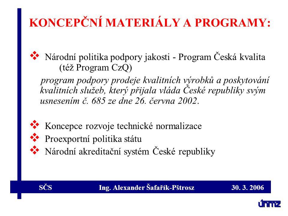 KONCEPČNÍ MATERIÁLY A PROGRAMY: