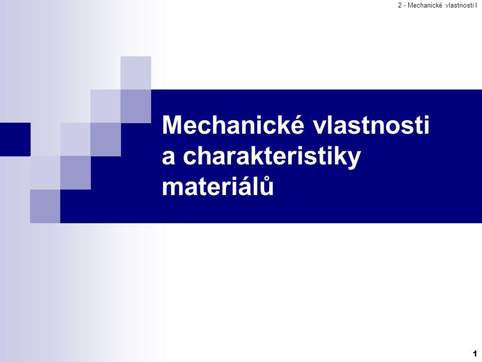 Mechanické vlastnosti a charakteristiky materiálů
