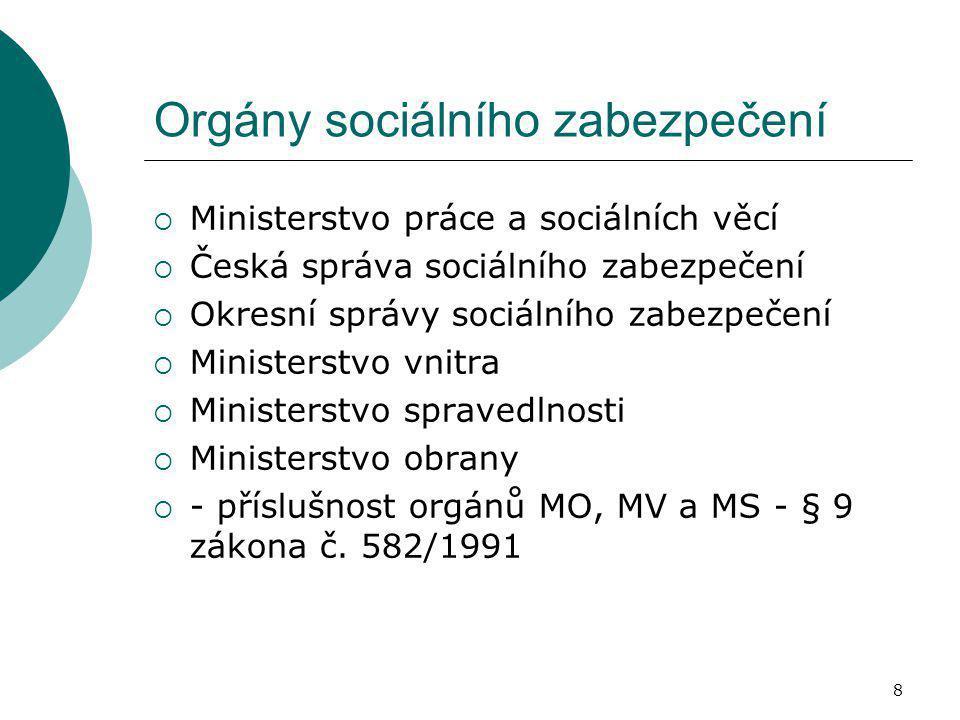 Orgány sociálního zabezpečení