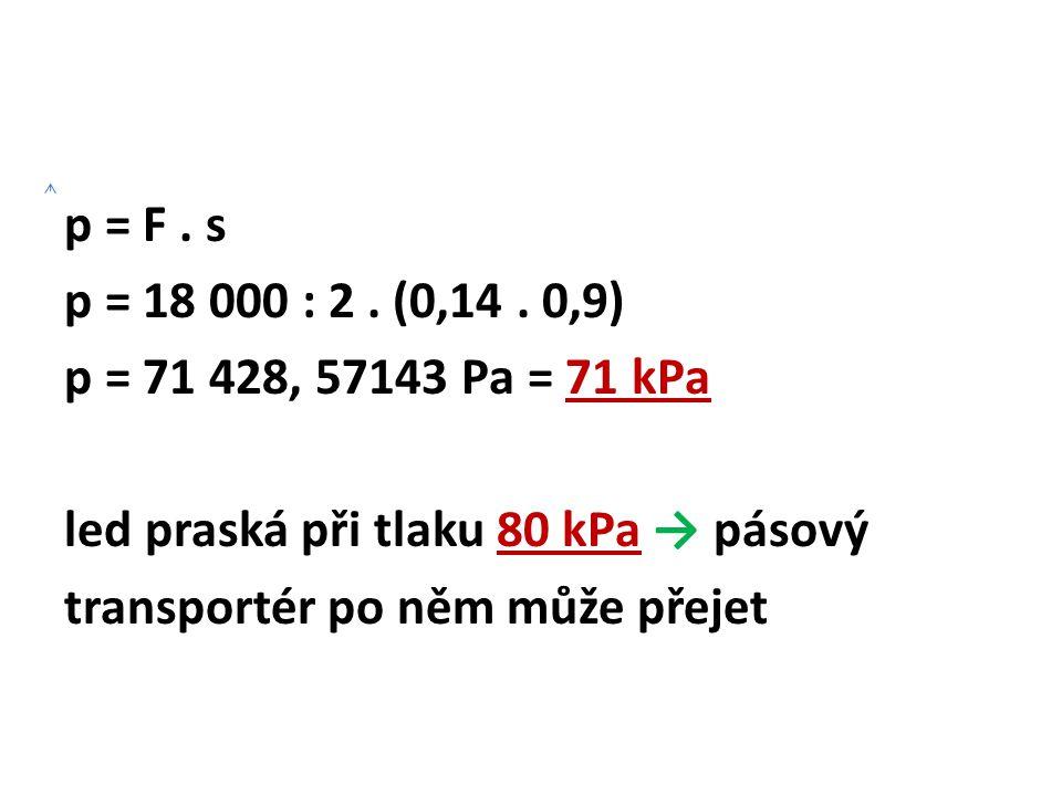 p = F . s p = 18 000 : 2 . (0,14 .