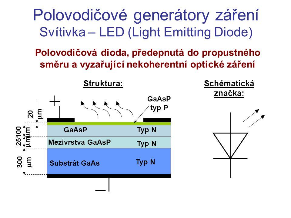 Polovodičové generátory záření Svítivka – LED (Light Emitting Diode)