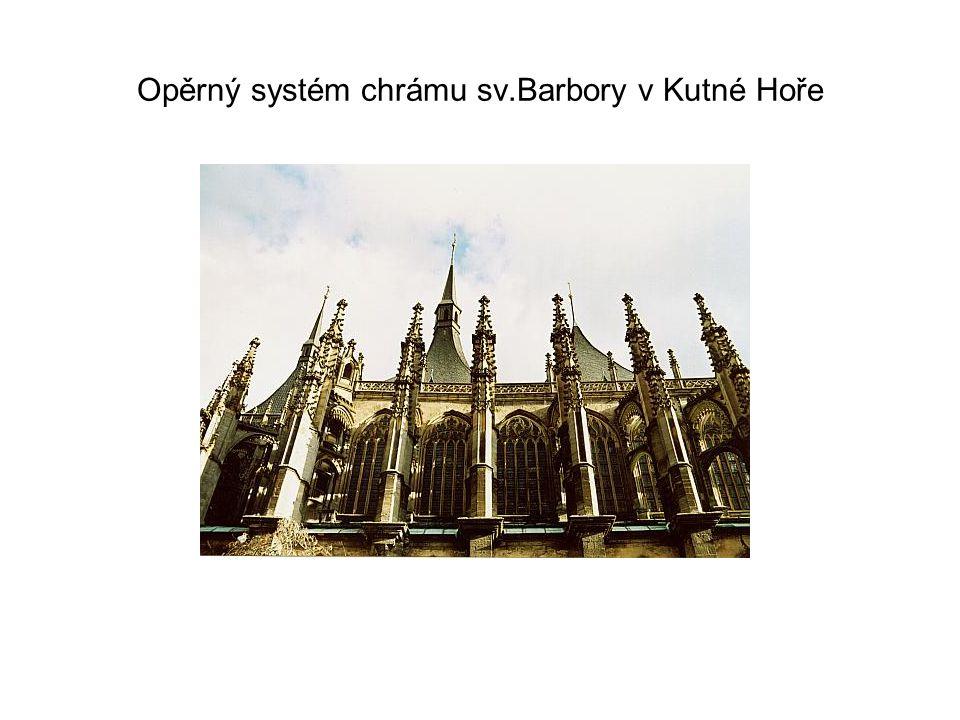 Opěrný systém chrámu sv.Barbory v Kutné Hoře