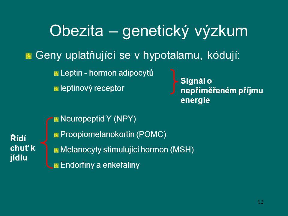 Obezita – genetický výzkum