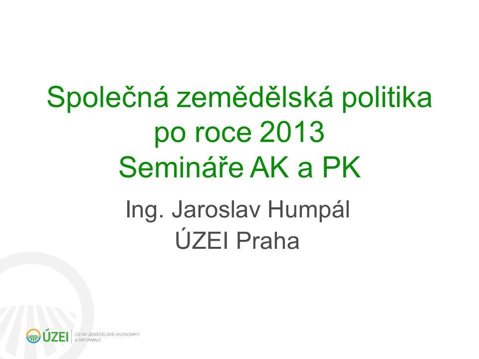 Společná zemědělská politika po roce 2013 Semináře AK a PK