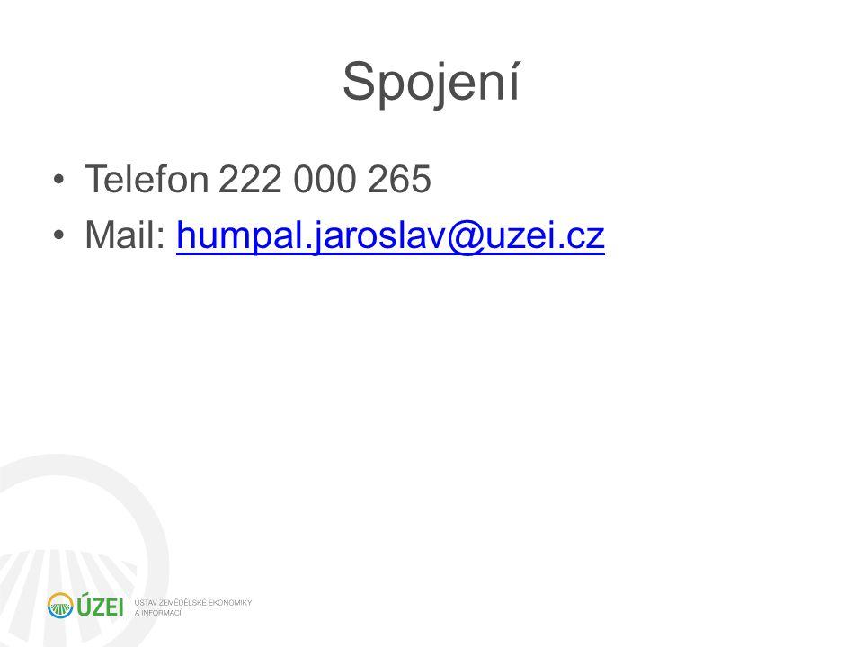 Spojení Telefon 222 000 265 Mail: humpal.jaroslav@uzei.cz