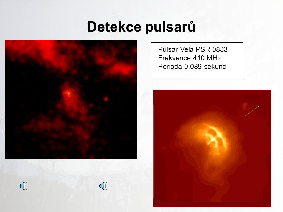 Detekce pulsarů Pulsar Vela PSR 0833 Frekvence 410 MHz
