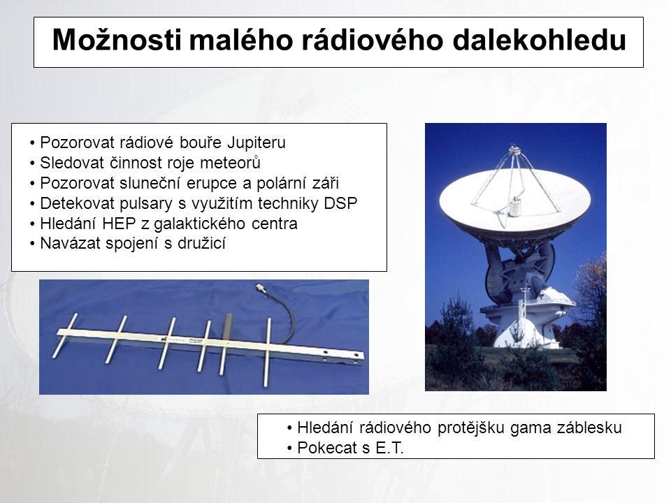 Možnosti malého rádiového dalekohledu