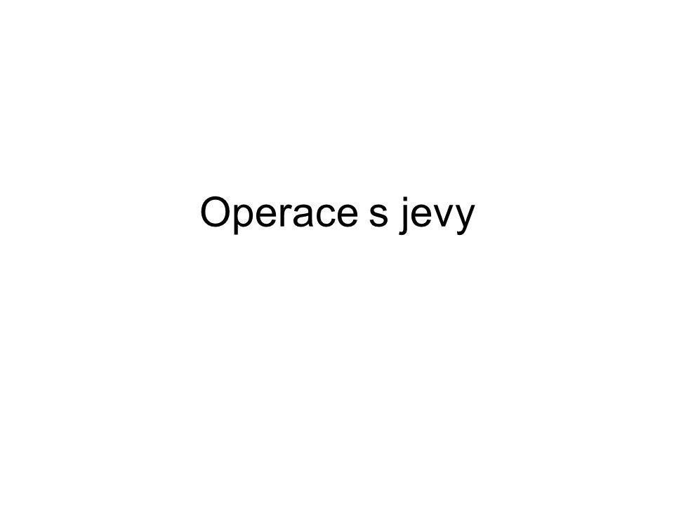Operace s jevy