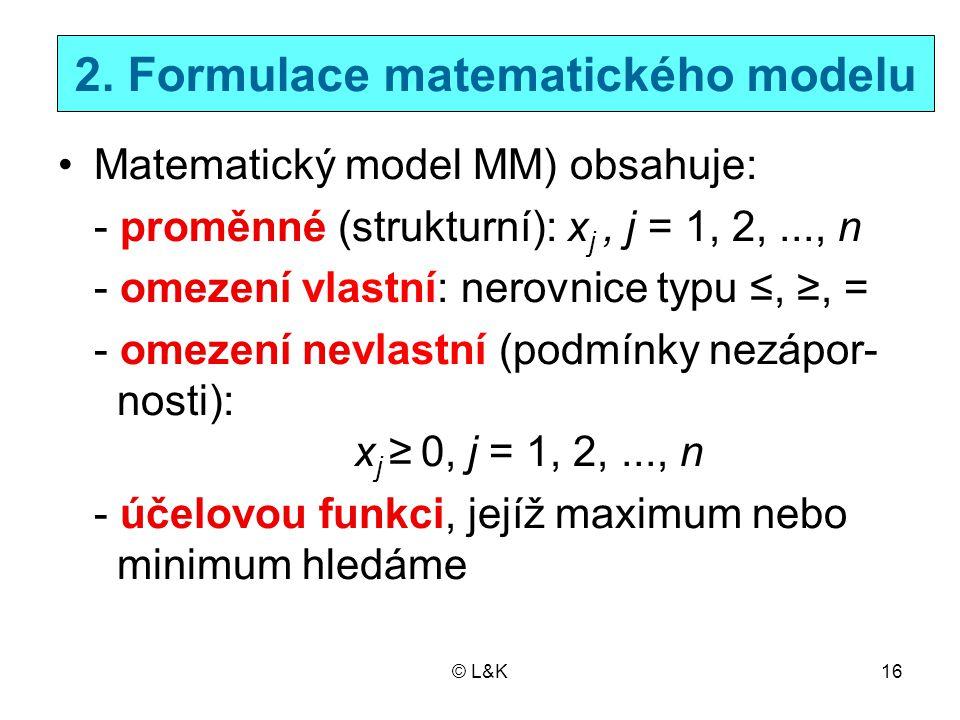 2. Formulace matematického modelu
