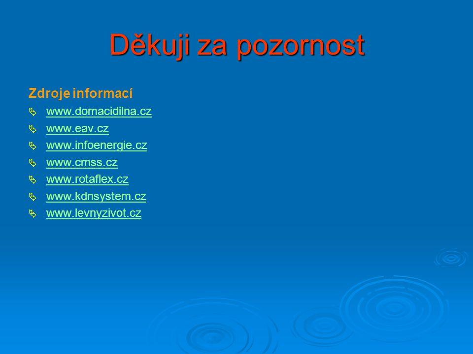 Děkuji za pozornost Zdroje informací www.domacidilna.cz www.eav.cz