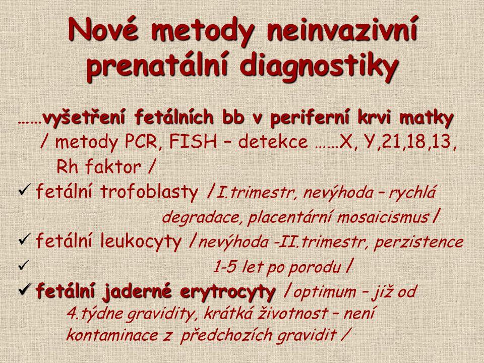 Nové metody neinvazivní prenatální diagnostiky